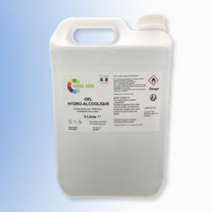 Bidon de gel hydroalcoolique de 5 litres