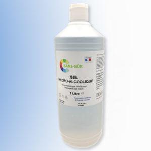 Bouteille à clapet de Gel hydroalcoolique de 1 litre