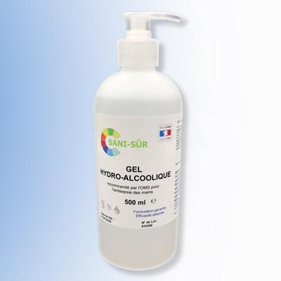 Bouteille à pompe Gel hydroalcoolique de 500 ml