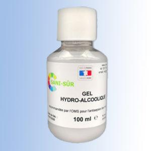 Bouteille gel hydroalcoolique de 100 ml distribution goutte