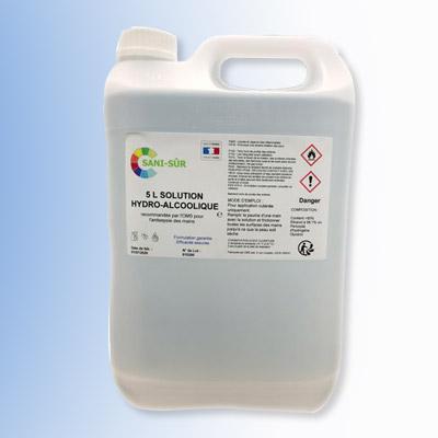 Bidon de solution hydroalcoolique de 5 litres