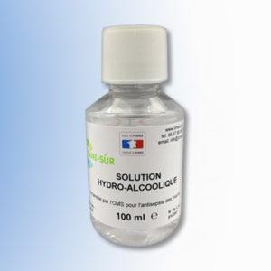 Bouteille solution hydroalcoolique de 100 ml distribution goutte
