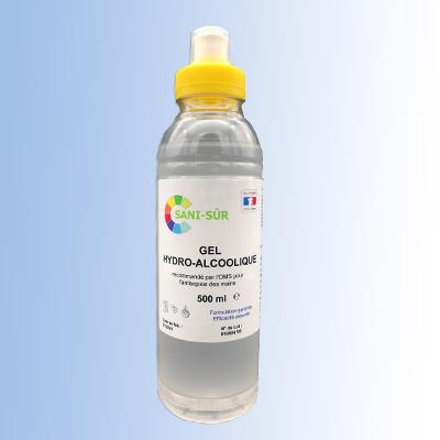 Bouteille 500 ml gourde pour gel hydroalcoolique